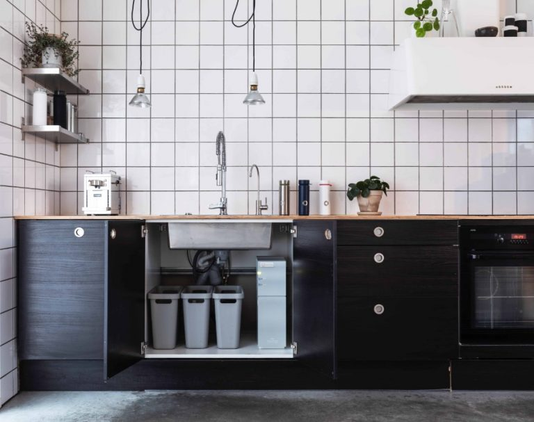 Kitchen Cabinet Refacing - Charcoal colored kitchen cabinet doors